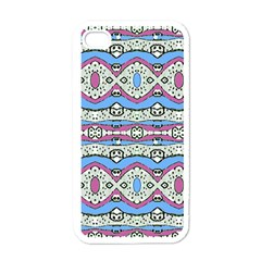Aztec Style Pattern In Pastel Colors Apple Iphone 4 Case (white) by dflcprints