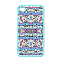 Aztec Style Pattern In Pastel Colors Apple Iphone 4 Case (color) by dflcprints