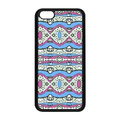 Aztec Style Pattern In Pastel Colors Apple Iphone 5c Seamless Case (black) by dflcprints