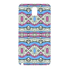 Aztec Style Pattern In Pastel Colors Samsung Galaxy Note 3 N9005 Hardshell Back Case by dflcprints