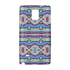Aztec Style Pattern In Pastel Colors Samsung Galaxy Note 4 Hardshell Case by dflcprints