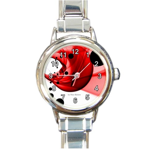 Clock Points By Nico Bielow By Nico Bielow   Round Italian Charm Watch   M836uwv5ttdh   Www Artscow Com Front