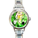 Clock Green By Nico Bielow - Round Italian Charm Watch