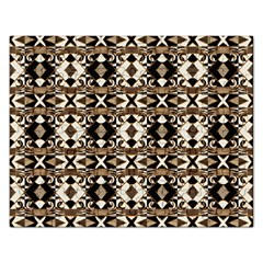 Geometric Tribal Style Pattern In Brown Colors Scarf Jigsaw Puzzle (rectangle) by dflcprints