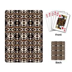 Geometric Tribal Style Pattern in Brown Colors Scarf Playing Cards Single Design by dflcprints