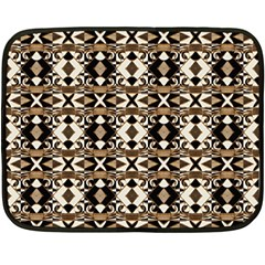 Geometric Tribal Style Pattern In Brown Colors Scarf Mini Fleece Blanket (two Sided) by dflcprints