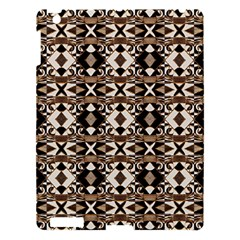 Geometric Tribal Style Pattern in Brown Colors Scarf Apple iPad 3/4 Hardshell Case by dflcprints