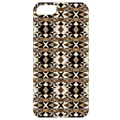 Geometric Tribal Style Pattern In Brown Colors Scarf Apple Iphone 5 Classic Hardshell Case by dflcprints