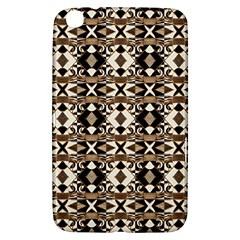 Geometric Tribal Style Pattern In Brown Colors Scarf Samsung Galaxy Tab 3 (8 ) T3100 Hardshell Case  by dflcprints