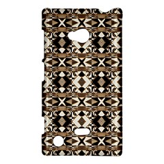 Geometric Tribal Style Pattern In Brown Colors Scarf Nokia Lumia 720 Hardshell Case