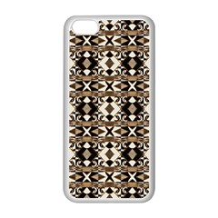 Geometric Tribal Style Pattern In Brown Colors Scarf Apple Iphone 5c Seamless Case (white) by dflcprints