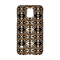 Geometric Tribal Style Pattern In Brown Colors Scarf Samsung Galaxy S5 Hardshell Case