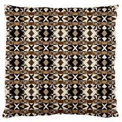 Geometric Tribal Style Pattern In Brown Colors Scarf Standard Flano Cushion Case (one Side) by dflcprints
