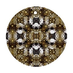Baroque Ornament Pattern Print Round Ornament by dflcprints