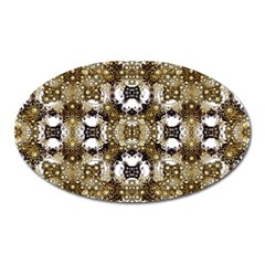 Baroque Ornament Pattern Print Magnet (oval) by dflcprints