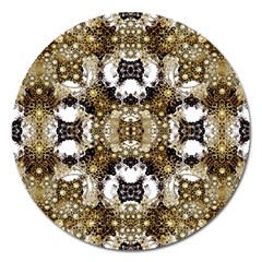 Baroque Ornament Pattern Print Magnet 5  (round) by dflcprints