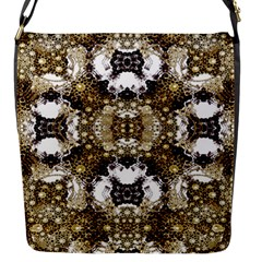 Baroque Ornament Pattern Print Flap Closure Messenger Bag (small) by dflcprints