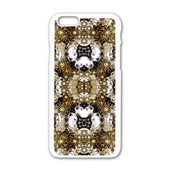 Futuristic Grid Pattern Design Print Apple Iphone 6 White Enamel Case by dflcprints