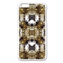 Futuristic Grid Pattern Design Print Apple Iphone 6 Plus Enamel White Case