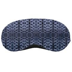 Futuristic Geometric Pattern Design Print In Blue Tones Sleeping Mask by dflcprints