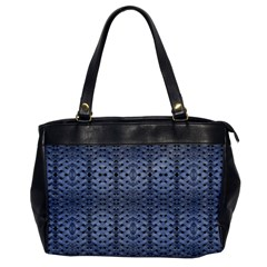 Futuristic Geometric Pattern Design Print In Blue Tones Oversize Office Handbag (one Side) by dflcprints