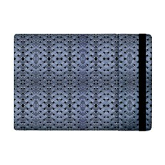 Futuristic Geometric Pattern Design Print In Blue Tones Apple Ipad Mini Flip Case by dflcprints