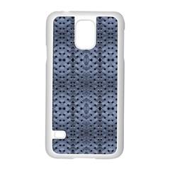 Futuristic Geometric Pattern Design Print In Blue Tones Samsung Galaxy S5 Case (white)