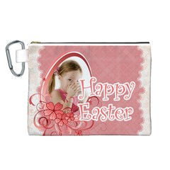 Easter By Easter   Canvas Cosmetic Bag (large)   Rwost4bymg7p   Www Artscow Com Front