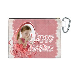 Easter By Easter   Canvas Cosmetic Bag (large)   Rwost4bymg7p   Www Artscow Com Back