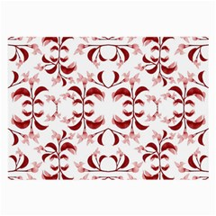 Floral Print Modern Pattern In Red And White Tones Glasses Cloth (large, Two Sided) by dflcprints