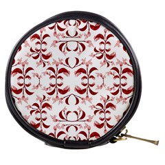 Floral Print Modern Pattern In Red And White Tones Mini Makeup Case by dflcprints