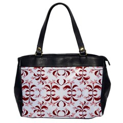 Floral Print Modern Pattern In Red And White Tones Oversize Office Handbag (one Side) by dflcprints
