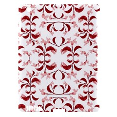 Floral Print Modern Pattern In Red And White Tones Apple Ipad 3/4 Hardshell Case (compatible With Smart Cover) by dflcprints