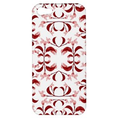 Floral Print Modern Pattern In Red And White Tones Apple Iphone 5 Hardshell Case by dflcprints