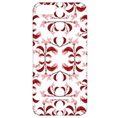 Floral Print Modern Pattern In Red And White Tones Apple Iphone 5 Classic Hardshell Case by dflcprints