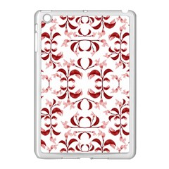 Floral Print Modern Pattern In Red And White Tones Apple Ipad Mini Case (white) by dflcprints