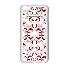 Floral Print Modern Pattern In Red And White Tones Apple Ipod Touch 5 Case (white) by dflcprints