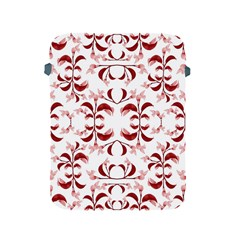 Floral Print Modern Pattern In Red And White Tones Apple Ipad Protective Sleeve by dflcprints