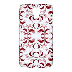 Floral Print Modern Pattern In Red And White Tones Samsung Galaxy S4 Active (i9295) Hardshell Case by dflcprints
