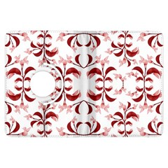 Floral Print Modern Pattern In Red And White Tones Kindle Fire Hdx Flip 360 Case by dflcprints
