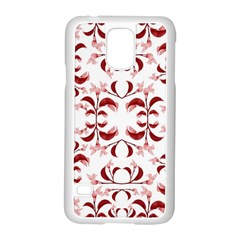 Floral Print Modern Pattern In Red And White Tones Samsung Galaxy S5 Case (white) by dflcprints