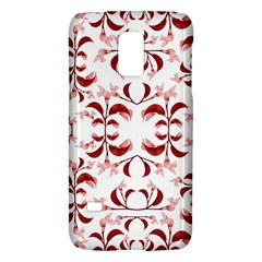 Floral Print Modern Pattern In Red And White Tones Samsung Galaxy S5 Mini Hardshell Case  by dflcprints