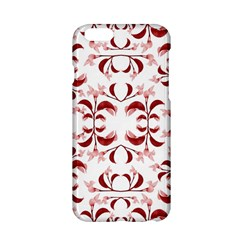 Floral Print Modern Pattern In Red And White Tones Apple Iphone 6 Hardshell Case by dflcprints