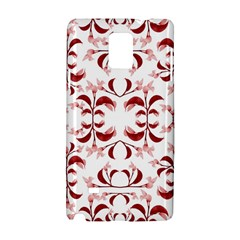 Floral Print Modern Pattern In Red And White Tones Samsung Galaxy Note 4 Hardshell Case by dflcprints