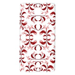 Floral Print Modern Pattern In Red And White Tones Samsung Note 4 Hardshell Back Case by dflcprints