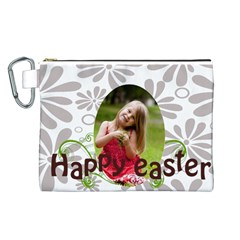Easter By Easter   Canvas Cosmetic Bag (large)   Djd5roe0xhf2   Www Artscow Com Front