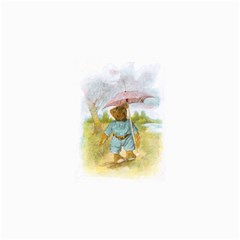 Vintage Drawing: Teddy Bear In The Rain Canvas 16  X 16  (unframed) by MotherGoose