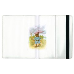 Vintage Drawing: Teddy Bear In The Rain Apple Ipad 2 Flip Case by MotherGoose