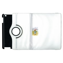 Vintage Drawing: Teddy Bear In The Rain Apple Ipad 2 Flip 360 Case by MotherGoose