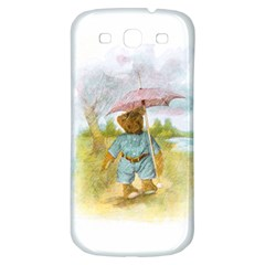Vintage Drawing: Teddy Bear In The Rain Samsung Galaxy S3 S Iii Classic Hardshell Back Case by MotherGoose